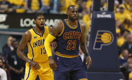 Paul George LeBron James 2017 Playoffs