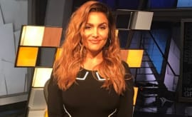 Molly Qerim on the 'ESPN First Take' set.