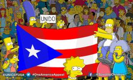 The Simpsons help Puerto Rico