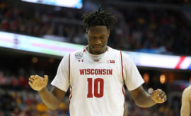 Nigel Hayes during game agaisnt Northwestern.