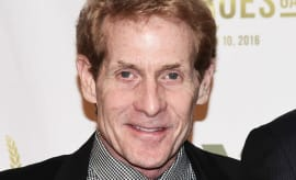 Skip Bayless smiles on the red carpet.