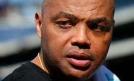 Charles Barkley at an MLB practice.