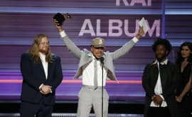 Chance The Rapper accepts the Grammy Award for Best Rap Album