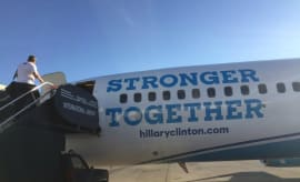 Hillary Clinton campaign plane