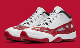 Air Jordan 11 XI Low IE White Gym Red Black Release Date Main 919712-101
