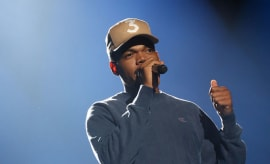 Chance the Rapper onstage.