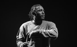 Kendrick Lamar performs onstage during FYF Festival