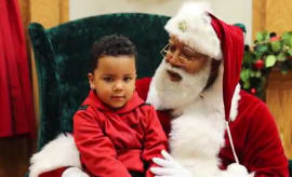This is a photo of Black Santa.