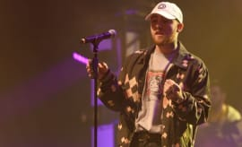Mac Miller performs at a concert.