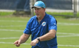 Dolphins coach Chris Foerster.