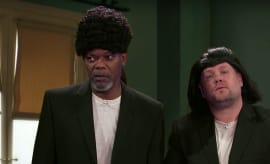 Samuel L. Jackson and James Corden
