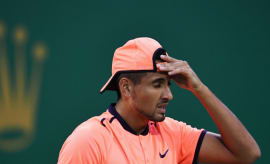 Nick Kyrgios at the Shanghai Rolex Masters.