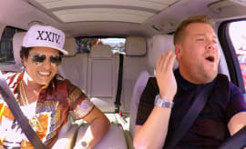 Bruno Mars Takes Over 'Carpool Karaoke' With James Corden