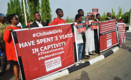 This is a photo of Chibok Girls.