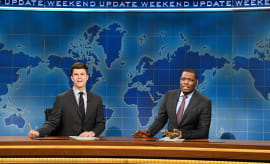 Colin Jost and Michael Che during 'Weekend Update'