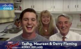 The Fleming family on Jimmy Kimmel Live!