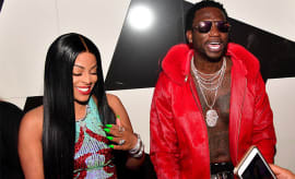 This is a photo of Gucci Mane and Keyshia Ka'oir.