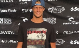 A picture of 16-year-old pro surfer Zander Venezia.