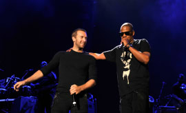 Jay Z and Chris Martin