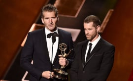 David Benioff (L) and D.B. Weiss