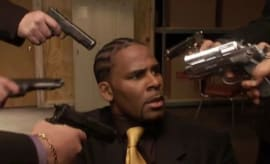 A stillshot from R. Kelly's Trapped in the Closet.