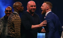 Dana White separates Floyd Mayweather and Conor McGregor.