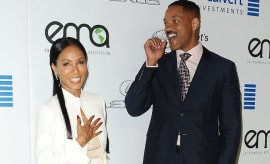 Actress Jada Pinkett Smith and actor Will Smith attend the 26th annual EMA Awards