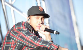 Tyga performs at the Queen Mary's WET Carnival
