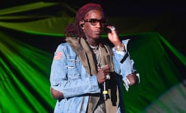 Young Thug performs during Future's 'Nobody Safe' tour concert