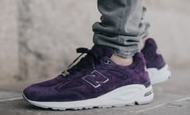 Concepts New Balance 990V2 Tyrian On Feet