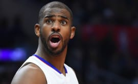 Chris Paul reacts to a call on the court.