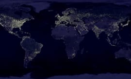 A picture of earth lights.