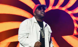 Big Boi performs during V-103 Live Pop Up Concert