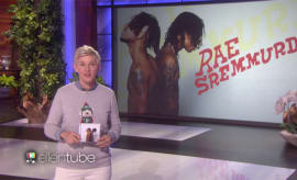 Ellen DeGeneres introducing Rae Sremmurd