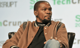 Kevin Durant at Tech Crunch.