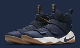 Nike LeBron Soldier 11 Cavs Navy Release Date Main 897644-402