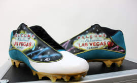 Jalen Ramsey Air Jordan 13 Low Las Vegas Victims Cleats (1)
