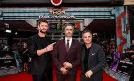 Taika, Mark, Chris at screening