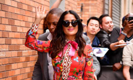 Salma Hayek arrives to the 'The Daily Show With Trevor Noah'