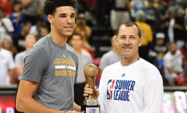 Lonzo Ball is given the Summer League MVP award.