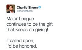 Charlie Sheen world series twitter