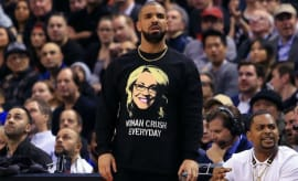 Drake wears his love for Doris Burke all over his shirt.