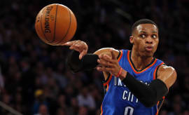 Russell Westbrook Assist New York Knicks Madison Square Garden 2016