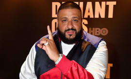 "DJ Khaled appears on carpet of ""Defiant Ones"" screenng."