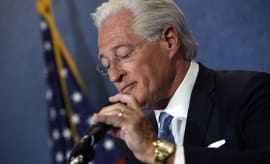 Marc Kasowitz, attorney for U.S. President Donald Trump delivers remarks