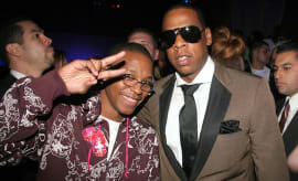 Lupe Fiasco and Jay-Z during Kanye West's Heaven GRAMMY After Party