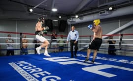 Conor McGregor and Paulie Malignaggi spar.