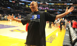 LaVar Ball after a Lakers game.