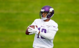 Minnesota Vikings wide receiver Michael Floyd (18) catches a pass