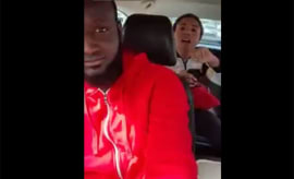 An unruly Uber passenger won't shut the hell up.